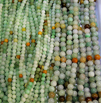 Pretty jade jewelry with beads and balls