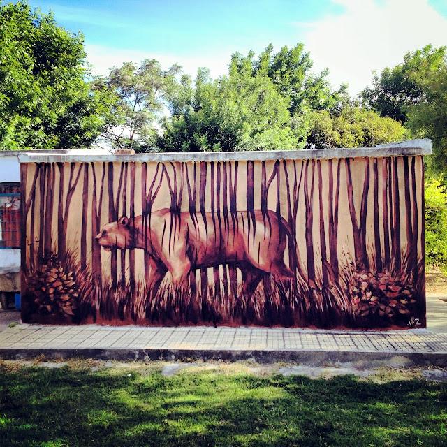 Street Art By Franco Fasoli Aka JAZ For The Vatelon Residency In Villa Soriano, Uruguay. 1