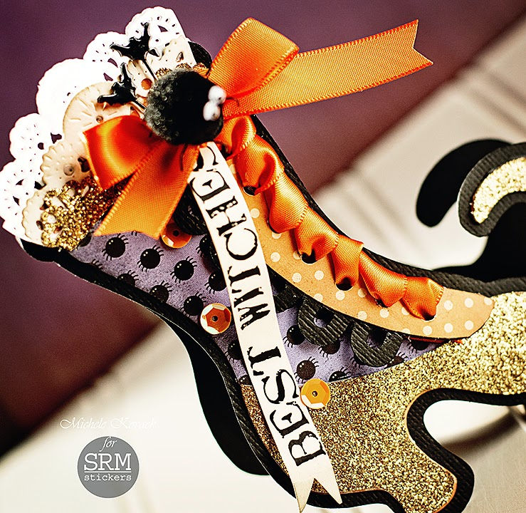 SRM Stickers - Best Witches by Michele - #halloween #card #doilies