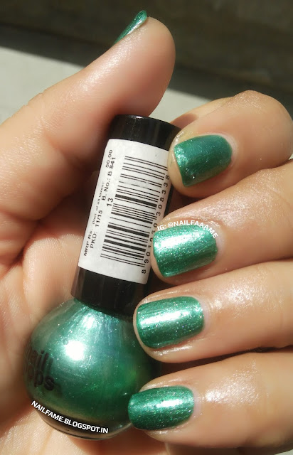 ELLE 18 GREEN NAIL POP REVIEW SWATCH NAILART