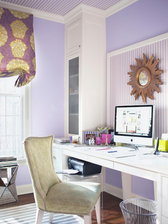 ultra-violet-home-office-lavender-ice-benjamin-moore Pantone's colour for 2018: ULTRA VIOLET Interior
