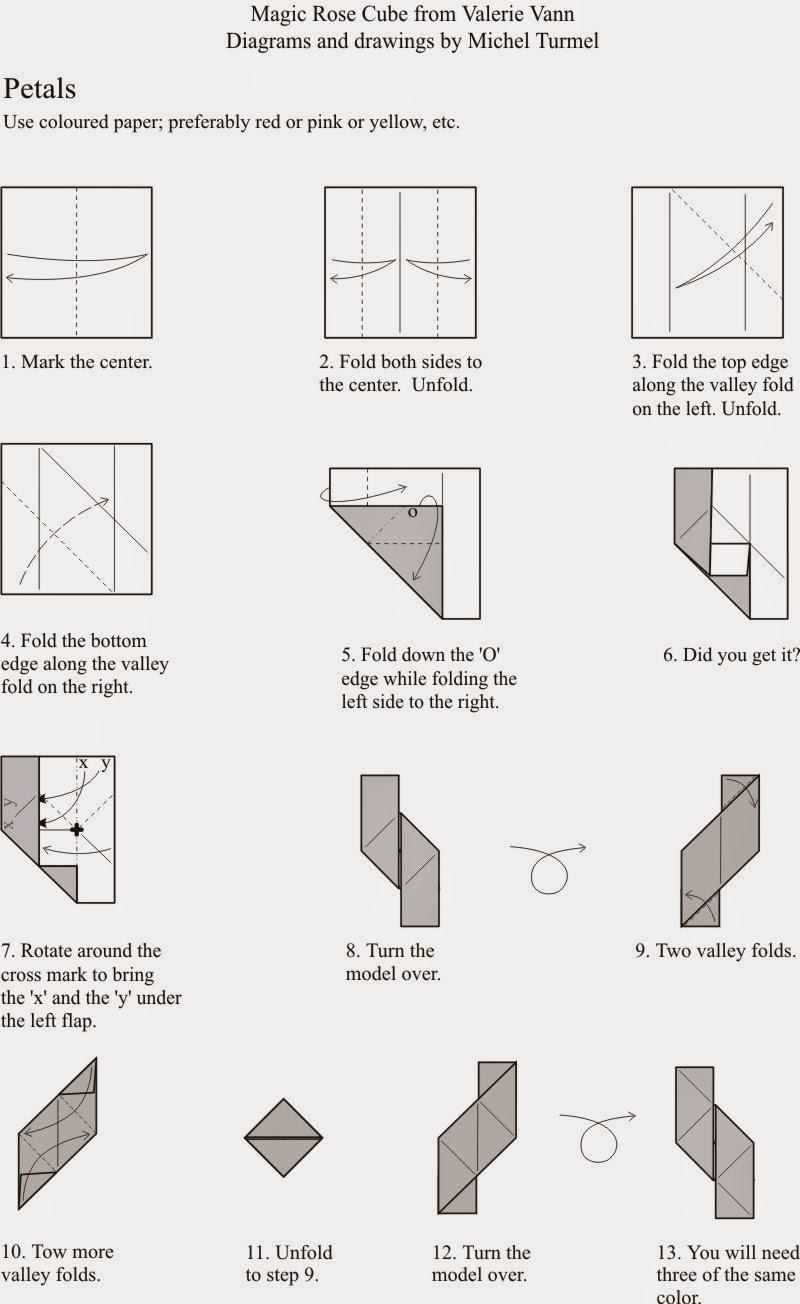 Free Printable Origami Rose