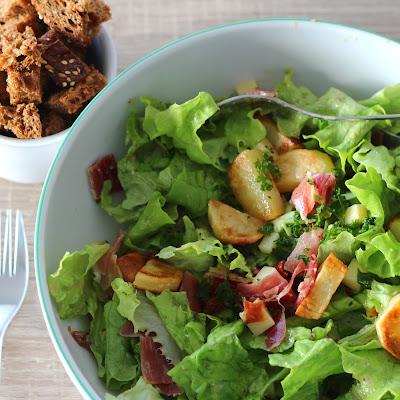 Illustration Salade de Jambon Serrano & Pommes de Terre