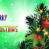 Kerst achtergrond met kerstboom en tekst Merry Christmas