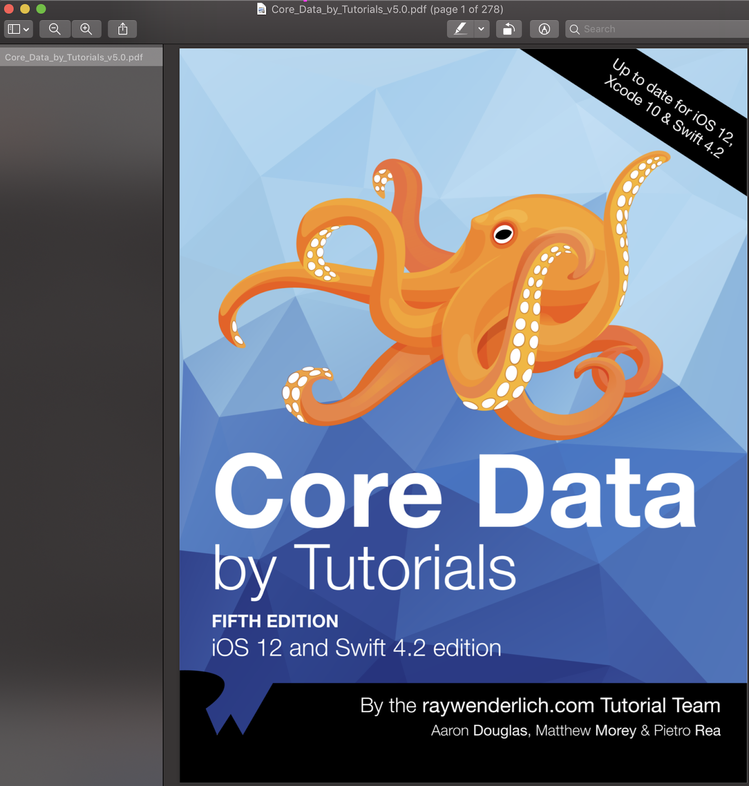 Core Data By Tutorials Fifth Edition IOS 12 and Swift 4 2