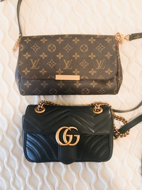 e0fa707de I also just wanted to throw in a comparison in size with the Gucci Marmont  and the Louis Vuitton MM. The Louis is a tad bigger but they both fit the  same ...