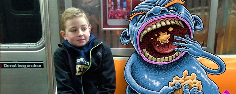 Subway Doodle; Monstruitos como compañeros de viaje