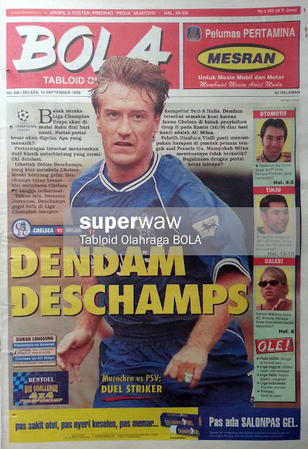 Tabloid BOLA: DENDAM DESCHAMPS