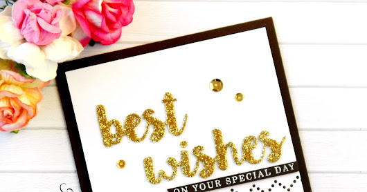 Best wishes - MFT Handmade Card
