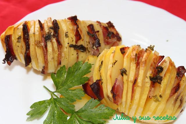 Patatas hasselback. Julia y sus recetas
