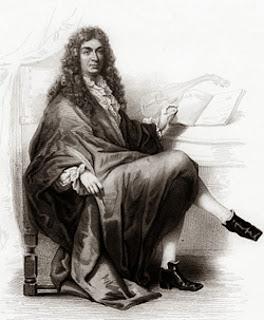 Jean-Baptiste Lully compositor francês - sentado, compondo