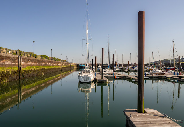 Photo of Maryport Marina flat calm on Saturday morning before the gate opened