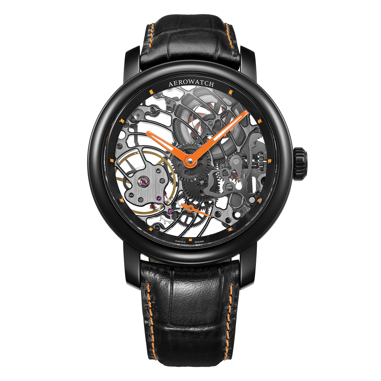 Aerowatch Renaissance Orange Tornado Mechanical Watch