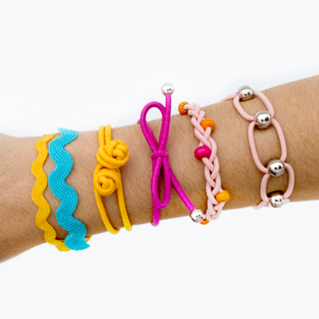 DIY 5 STYLES OF HAIR TIE BRACELETS | FRIENDSHIP BRACELETS