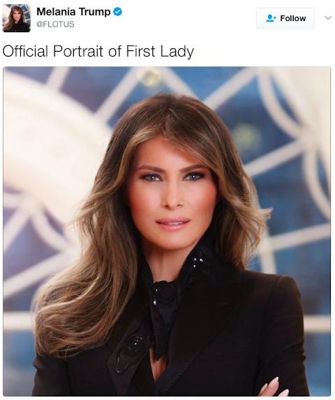 la casa bianca rivela il ritratto ufficiale di melania trump