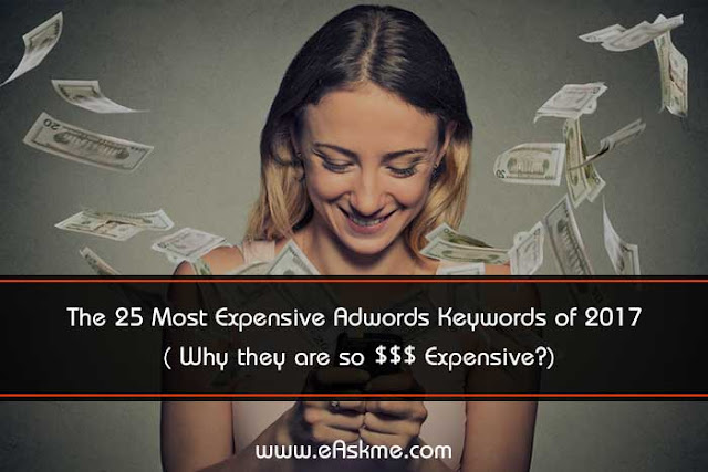 The 25 Most Expensive Adwords Keywords of 2018 (Why they are so $$$ Expensive?): eAskme