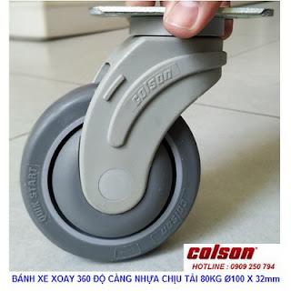 Bánh xe cao su di động Colson phi 100 x 32mm - 4 inch | STO-4856-448 www.banhxeday.xyz