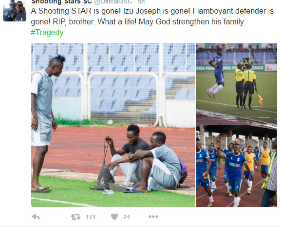 Shooting Stars Ibadan player, Izu Joseph, shot dead by JTF in Rivers State