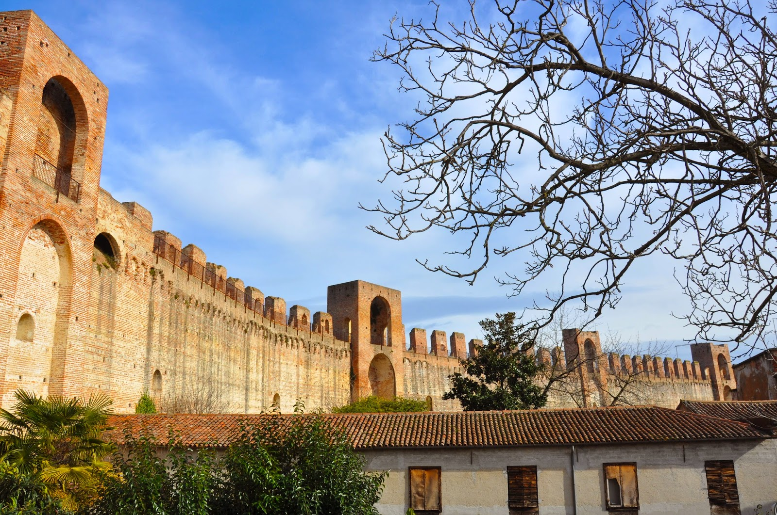preserved medieval wall town Cittadella Italy