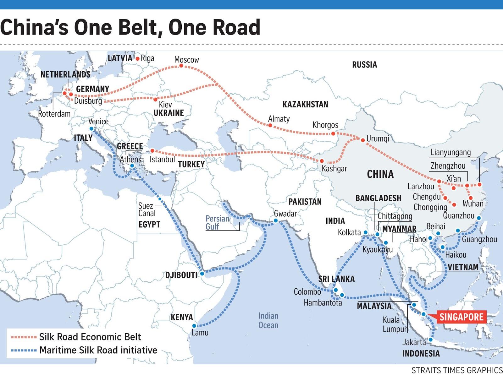 Bildergebnis für on belt one road