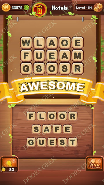 Word Bright Level 184 Answers, Cheats, Solutions, Walkthrough for android, iphone, ipad and ipod