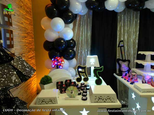 Decoração de mesa de aniversário Discoteca