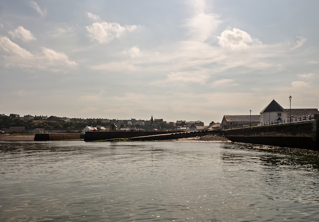 Photo of a sunny start to the day in Maryport Basin yesterday (Thursday) morning