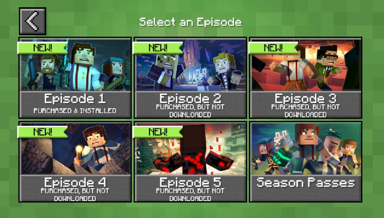 minecraft story mode all episodes unlocked pc