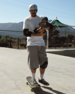 Daddy Zack and Baby Reef enjoy their day at the Skate Park.
