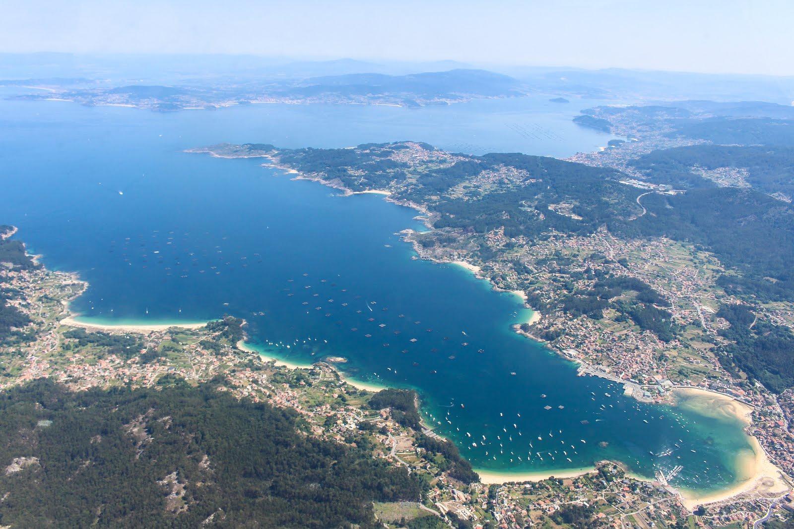 Vista aérea de Vigo y alrededores