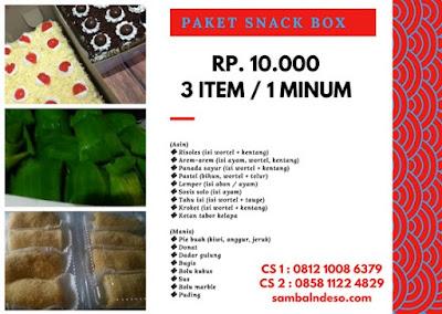 harga aneka snack di Pamulang kota Tangerang Selatan
