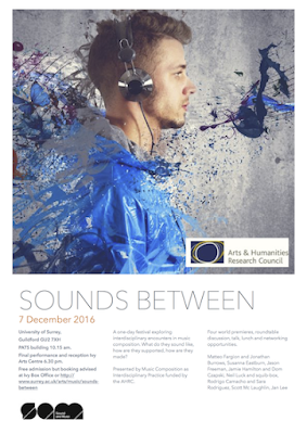 sounds between festival poster