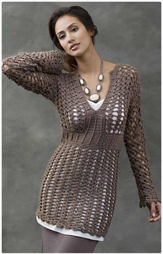 ergahandmade: Crochet Tunic + Free Pattern + Diagrams