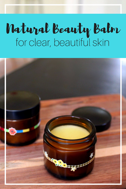 The best natural beauty balm recipe for clear, beautiful skin with essential oils and carrier oils.