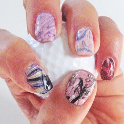 water marbling nail designs