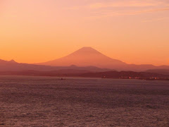 江の島富士夕景