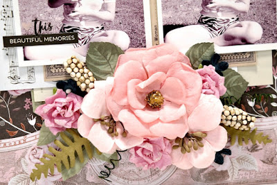 Beautiful Memories Flower Cluster Closeup by Dana Tatar for Scraps of Darkness - August Sparkle and Shine Kit