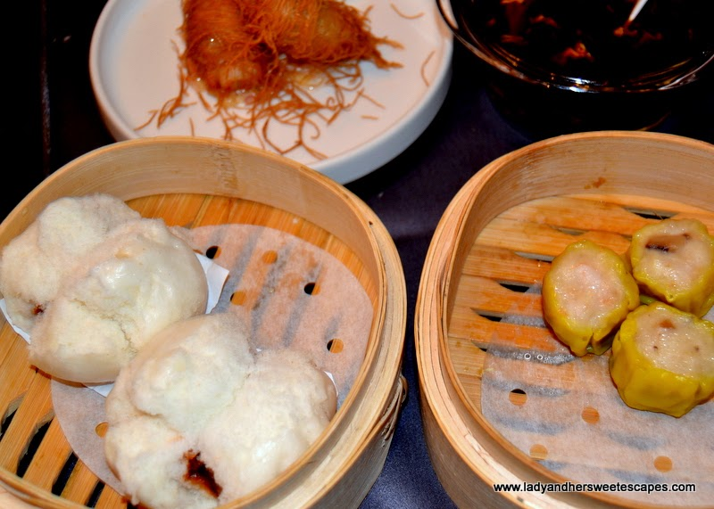 Chicken BBQ Bun and Chicken Siew Mai