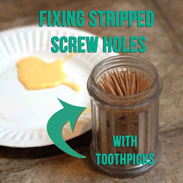 Fix Stripped Screw Hole Wood