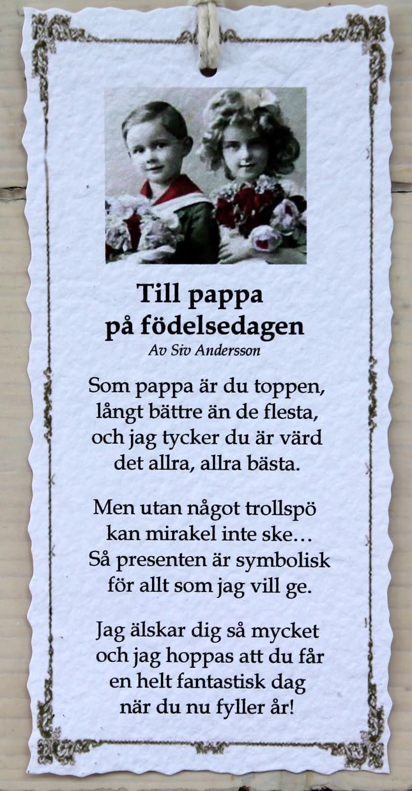 grattis pappa dikt Annas idéer bloggbutik: september 2015 grattis pappa dikt