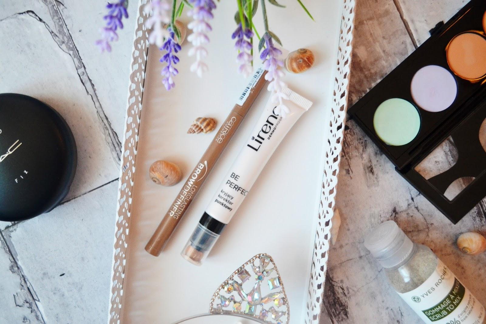 Flamaster catrice oraz lirene be perfect korektor punktowy, blog kosmetyczny, kosmetyki do brwi, dobry korektor na lato