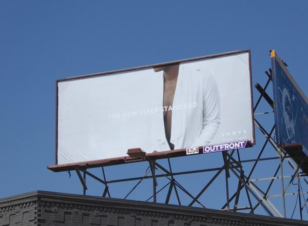 Lunya sleepwear Fall 2016 billboard