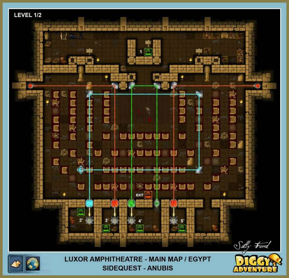 Diggy's Adventure Walkthrough: Egypt Main / Luxor Amphitheatre Level 1