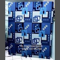 Kasur inoac motif kotak-kotak biru inoactasik