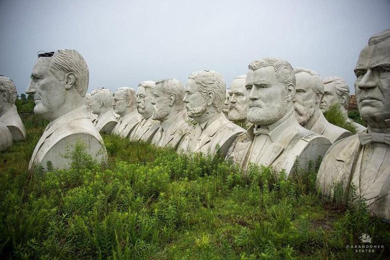 Los bustos abandonados del parque de los presidentes | EE.UU.