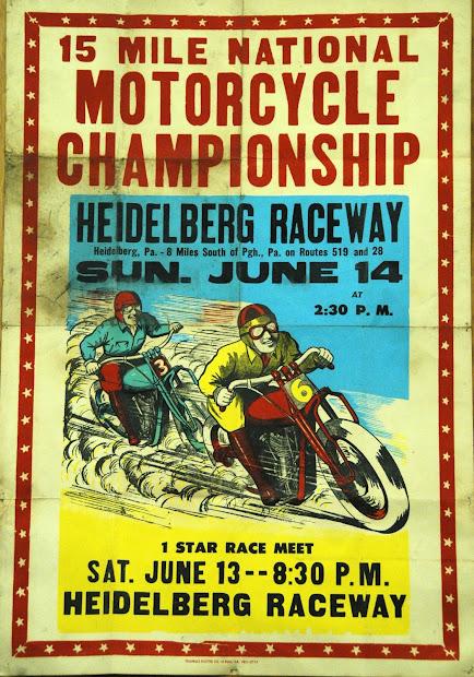 Vintage Motorcycle Race Posters