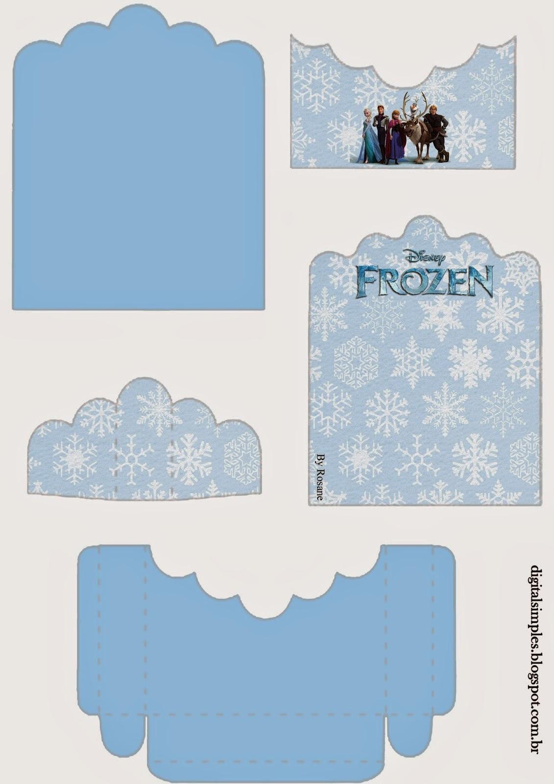 Frozen: Soporte para Golosinas para Imprimir Gratis.