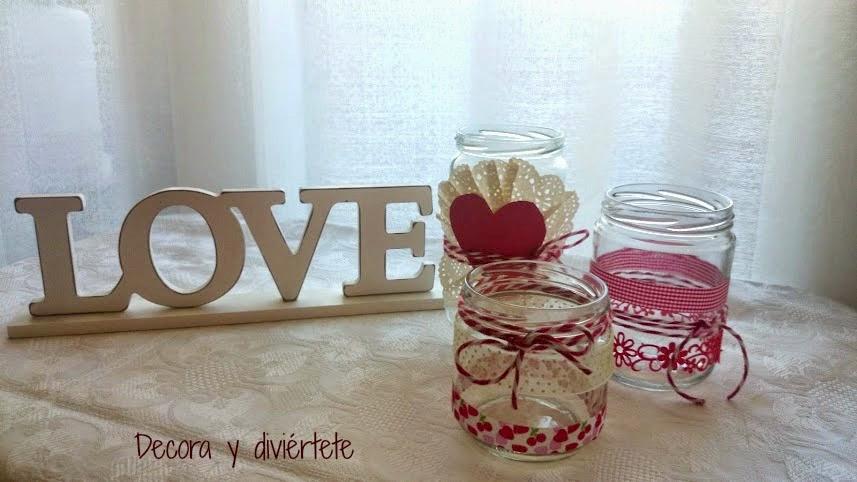 Botes De Cristal Decorados Para San Valentin
