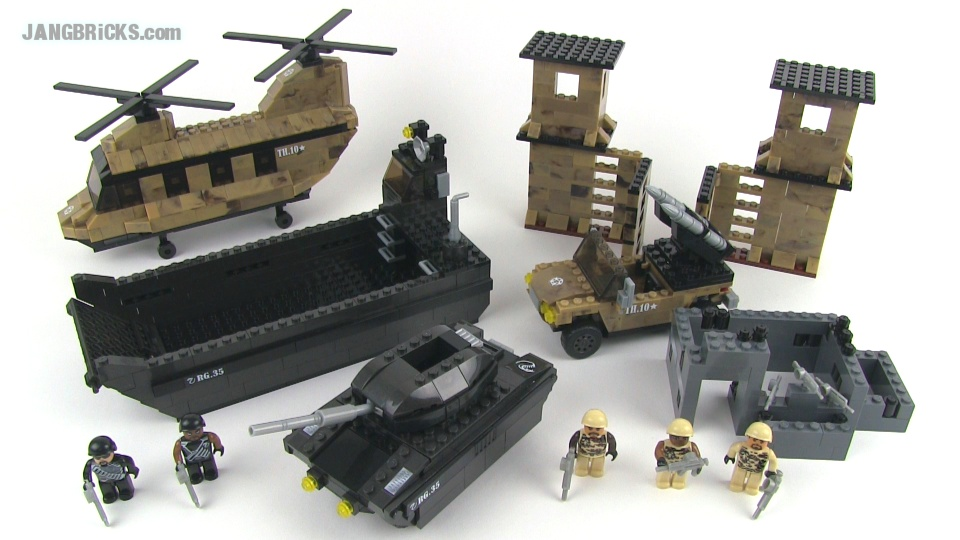 Mega Bloks True Heroes Stealth Attack set review