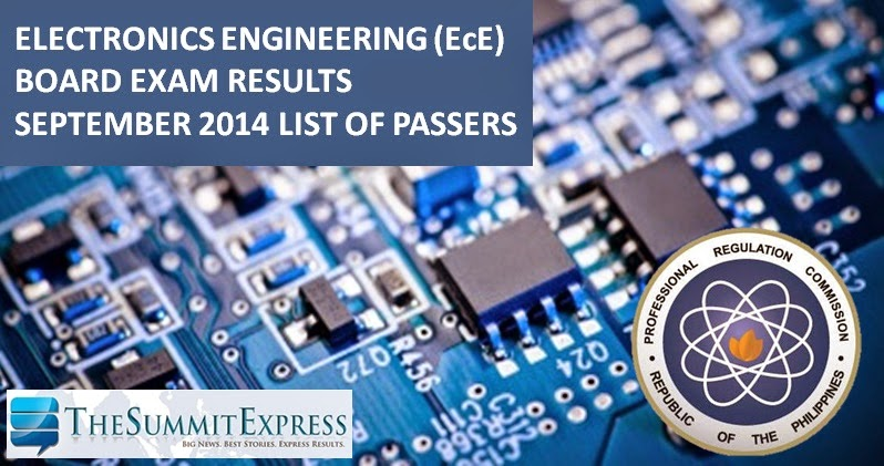 List of Passers: ECE board exam results September 2014